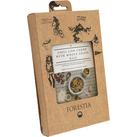 Forestia Heater Outdoor Pasto pronto con carne 350g, Chili con Carne with Whole-Grain Rice